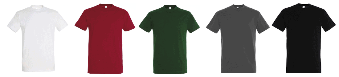 Farbige T-Shirts.